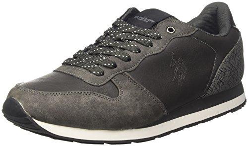 U.S.POLO ASSN. Sheridan Club, Sneaker a Collo Basso Uomo Grigio (Dark Grey)