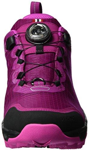 Basses Chaussures W Pink Dis Femme Magenta Randonnée Viking GTX Dark Rose 3996 de Boa Iw0FqHC