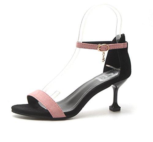 Donna Sexy Alti Sandali 38 Toe I Scarpe Nvxie Pink Da 34 Con Fibbia Fine Open Sottile Estiva Tacchi q7aEvaO