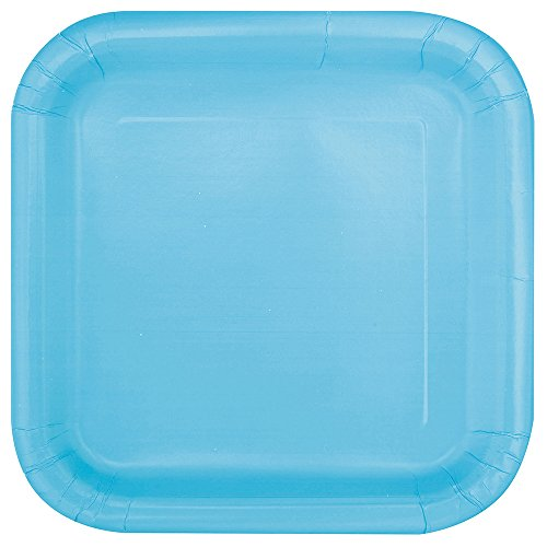 Square Light Blue Paper Cake Plates, (Boy Cake Plates)