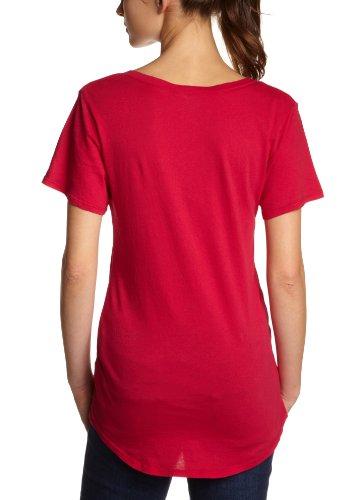Bobi - Camiseta con cuello de pico de manga corta para mujer Rojo (Gumdrop)