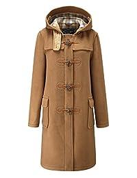 Ladies Classic Long Duffle Coat Camel