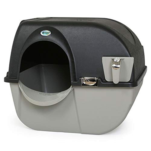 Omega Paw EL-RA15-1 Elite Roll 'n Clean Litter Box, Regular, Midnight Black (Omega Roll And Clean Litter Box Review)