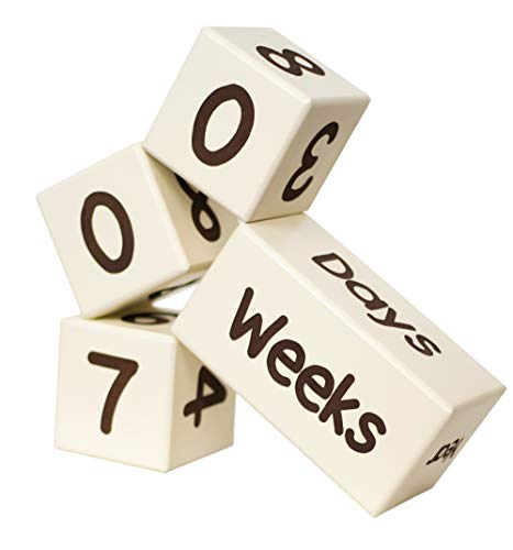 Baby Milestone Age Blocks | Natural Solid Wood | Days, Weeks, Months, Years | Newborn Gender Neutral (Boy or Girl) | Picture Photo Prop | Baby Shower Gender Reveal by (Best Baby Aspen Friend For Boy And Girls)