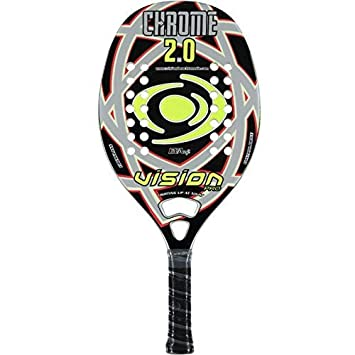 Vision pro Raqueta Tenis Playa Racket Cromo 2.0 19: Amazon ...