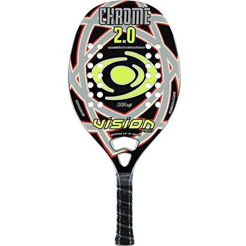 Vision pro Raqueta Tenis Playa Racket Cromo 2.0 19: Amazon.es ...