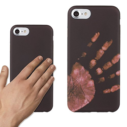 Funda para iPhone 5/5S/SE, Ez-Buy TPU calor térmico de inducción de calor ultra-delgada cubierta trasera carcasa de telefono -negro negro