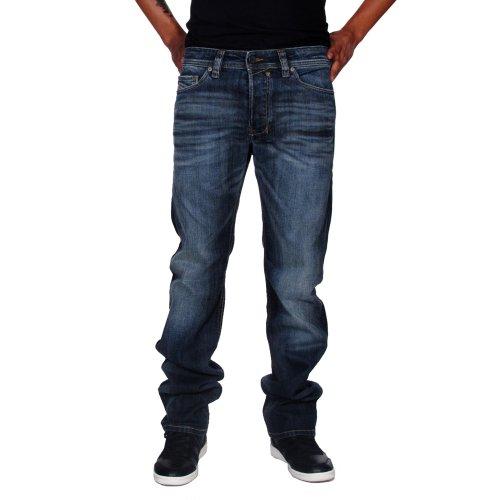 Diesel Men's Safado Straight 0885K Denim Jeans (Diesel Mid Rise Jeans)