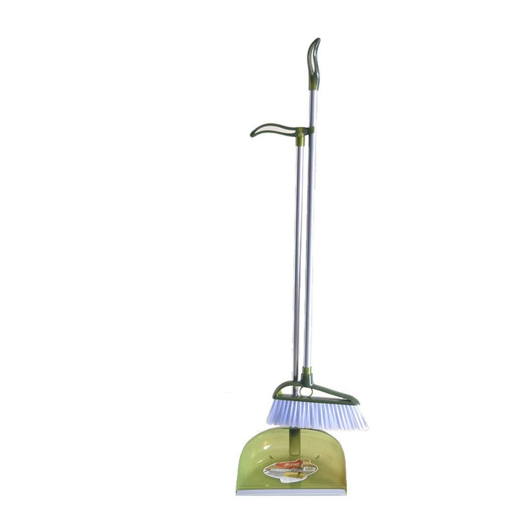 Lsxlsd Soft Broom Indoor Sweeping Broom Floor Brush Broom The Long Handled Brush Sweeper Broom Dustpan And Broom Set Dustpan Cleans Broom Combo (Color : Green) by Lsxlsd