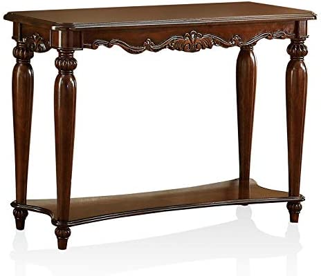 Furniture of America Garner Traditional 4-Piece Wood Coffee Table Set in Cherry