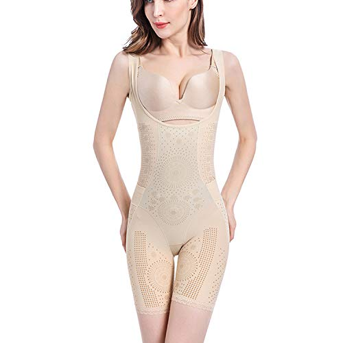 - Fad-J Full Body Shaper Waist Shapewear After-Release Corset, Caffeine Body Underwear, Body Negative ion Graphene Tummy Hip Shaping Suit,Flesh,XXL