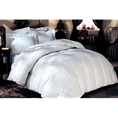 LUXURIOUS 1200 Thread Count GOOSE DOWN Comforter , Queen Size, 1200TC - 100% Egyptian Cotton Cover, 750 Fill Power, 50 Oz Fill Weight, White Color