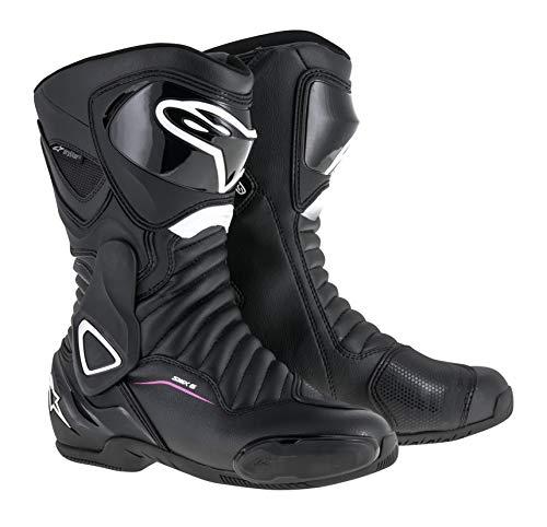 Stella Women's SMX-6 v2 Drystar Waterproof Motorcycle Boot (36 EU, Black White Fuchsia)