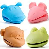 Animal Silicone Pot Holders - Bundle of 4 (Dog, Mouse, Frog, & Monkey)