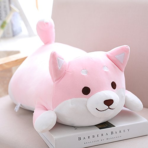Pink elfishgo Corgi Dog Plush Toys Creative Shiba Inu Dog Butt Shaped Plush Soft Pillows 21