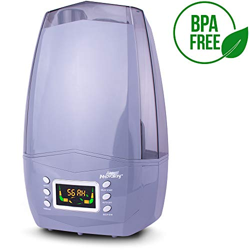 Air Innovations Clean Mist Smart Ultrasonic Humidifier 80 Hour Run Time Model MH-512