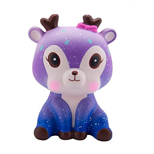 Fantastic Deal! BeYumi Slow Rising Toy, Kawaii Star Deer Squishy Toy, Cream Scented Simulation Cute Animals Toys Gift for Kids Lovely Stress Relief Toy