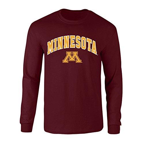 Elite Fan Shop Minnesota Golden Gophers Long Sleeve Tshirt Arch Maroon - XL