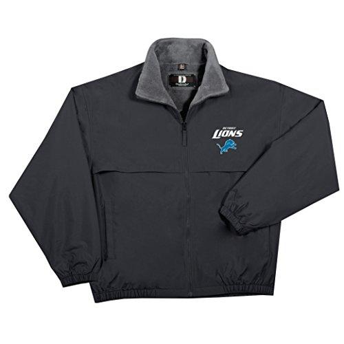 NFL Detroit Lions  Triumph Fleece Lined Mid Weight Jacket, 2X, Black ()
