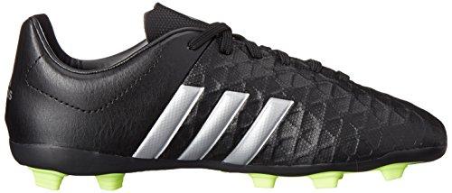adidas Performance Ace 15.4FG J Zapatillas de fútbol (poco Kid/Big Kid) Black/Silver Metallic/Solar Yellow