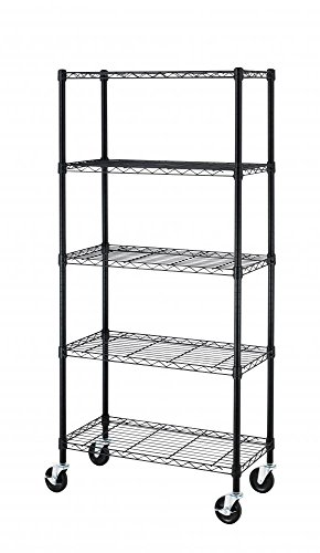 5 Shelf Steel Wire Shelving 30 by 14 by 60-Inch Storage R...
