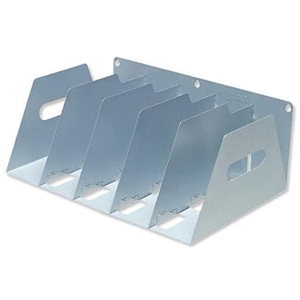 Rotadex - Estantería de pared para archivadores de palanca tamaño A4 (metal rígida, portátil