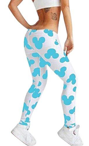 Gillbro Womens Tights Leggings Sexy Mickey Printed Leggings,D