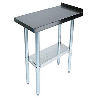 John Boos EFT8-3018 Stainless Steel 430 Riser Top Filler Table, 1.5″ Turn Up with Adjustable Undershelf, 18″ Length x 30″ Width