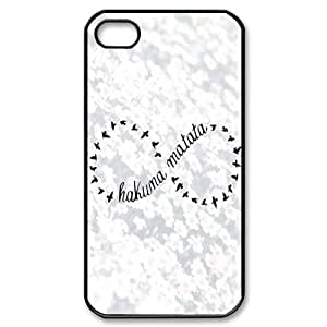 Hakuna Matata ZLB542552 Custom Phone Case for Iphone 4,4S, Iphone 4,4S Case