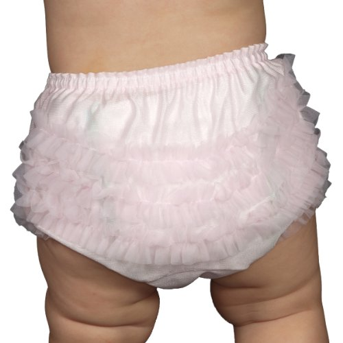 I.C. Collections Baby Girls Pink Rumba Diaper Cover Bloomers, Size L by IC Collections