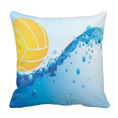 BEArtStore Water Polo Cotton Linen Throw Pillow Case Cushion Cover Colorful18x18