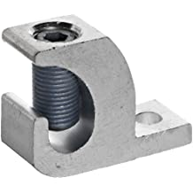 Morris Products 90580 Lay In Connector, Aluminum, Used With Copper and Aluminum Conductors, 250 - 6 Wire Range, 2.20 Length, 0.80 Width, 1.79 Height, 0.33 Bolt Size