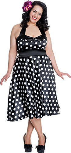 Hell Bunny Kleid VERA DRESS black/white polkadot Black-White NnNUR5