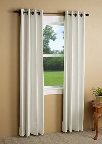 Green Mountain Vista Huntington Linen Blend Blackout Curtain Panel