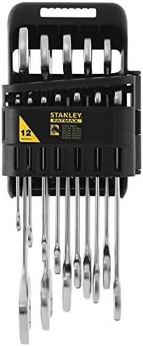 gris STANLEY FATMAX FMMT82902-0 Juego de 12 llaves fijas Fatmax