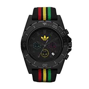 adidas Originals ADH2668 - Reloj analógico de cuarzo para hombre con correa de tela, color negro