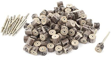 eDealMax 10 mm x 10 mm x 3 mm de 600 granos de pulido Molino de la Aleta de discos de ruedas 100pcs