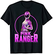 Power Rangers Pink Ranger Simple Portrait T-Shirt