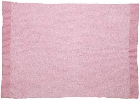 ニットハーフケット ピンク 約100cm×約140cm