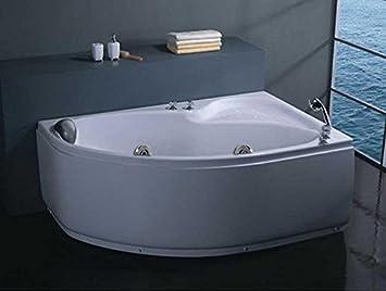 Vasca Da Bagno Doppia Dimensioni : Vasca da bagno idromassaggio doppia 150x100 full optional: amazon.it