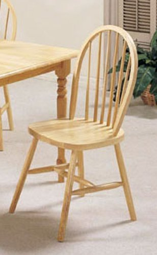 - ACME 02613N Set of 4 Farmhouse Spindle Side Chair, Natural Finish