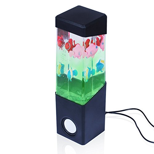 Dancing Water Speakers Stereo Dancing Water Speaker Light Show Speakers Portable Colorful LED Floating Fish Music Box Water Fountain Amplifier Water Dance