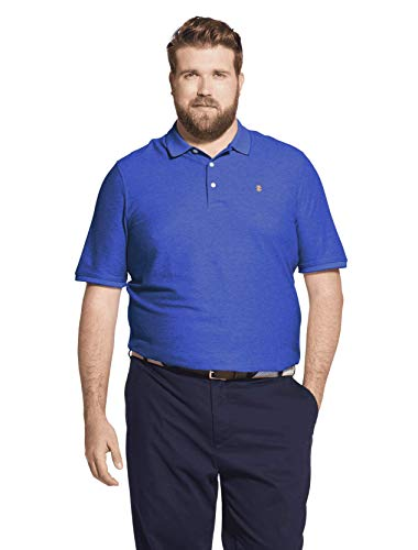 IZOD Men's Advantage Performance Solid Polo (Big Tall Slim),  True Blue, 2X-Large Big (Sleeve Fit Polo Short Relaxed Shirt)