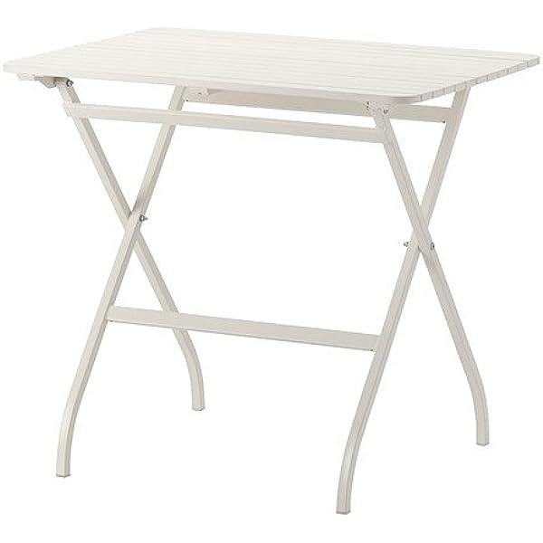 IKEA MALARO - Mesa, blanco - 80x62 cm: Amazon.es: Jardín