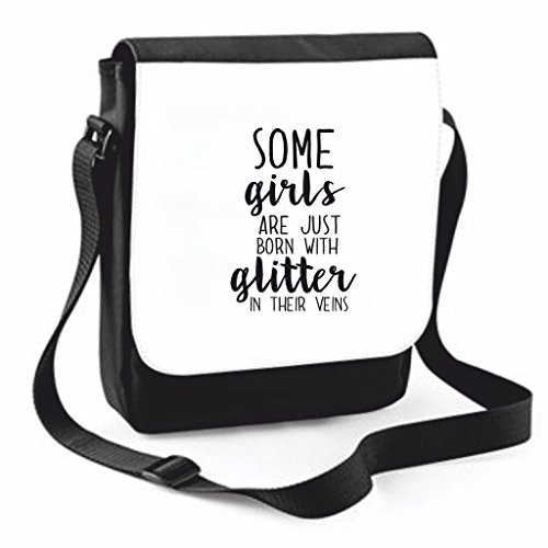 Handbag Bag Statement Case Just Glitter Messenger Born Crossbody Their With Traveling Cover Shoulder Veins Black In Crafty Medium Are Some Large Compartment Girls qwv6nanO