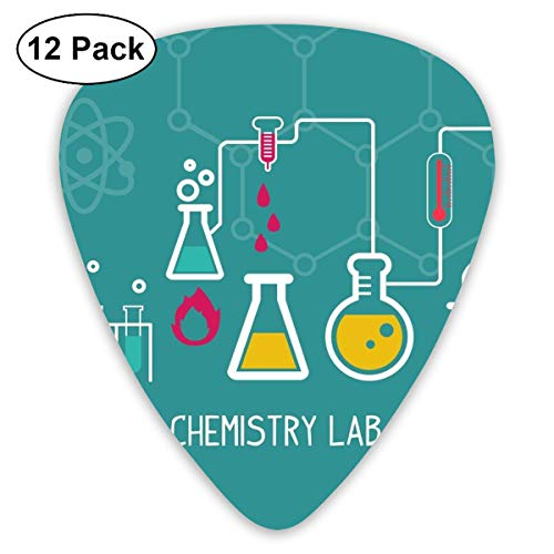 V5DGFJH.B Chemistry Lab Classic Guitar Pick Player's Pack for Electric Guitar,Acoustic Guitar,Mandolin,Guitar Bass