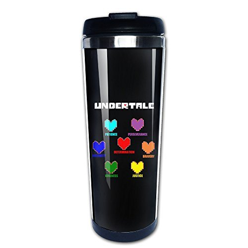 CEDAEI Sans Undertale Role-playing Video Game Thermos Cup With Easy Clean  Lid Black14-Ounce Mug