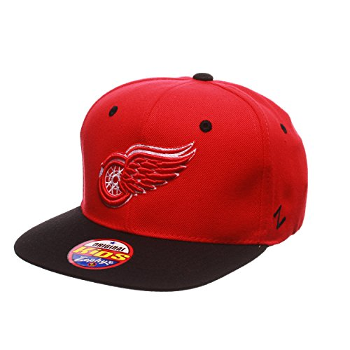 Nhl Youth Hat - ZHATS NHL Detroit Red Wings Youth Boys Z11 Snapback Hat, Adjustable, Red