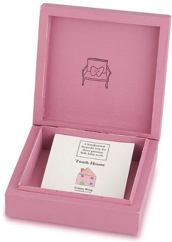 (Tree By Kerri Lee Wooden Tooth Box, Pink)
