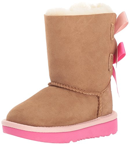 UGG Girls T Bailey Bow II Pull-on Boot, Chestnut/Pink Azalea, 10 M US Toddler]()